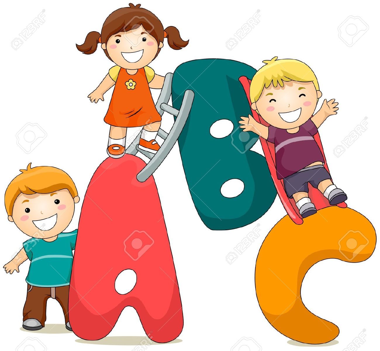 Abc kids clipart.