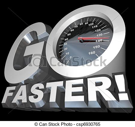 Stock Illustrations of Go Faster Speedometer Racing to Successful.