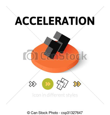 EPS Vector of Acceleration icon in different style.
