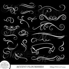 113 Best Accent Clipart Gold Silver Black White Instant.