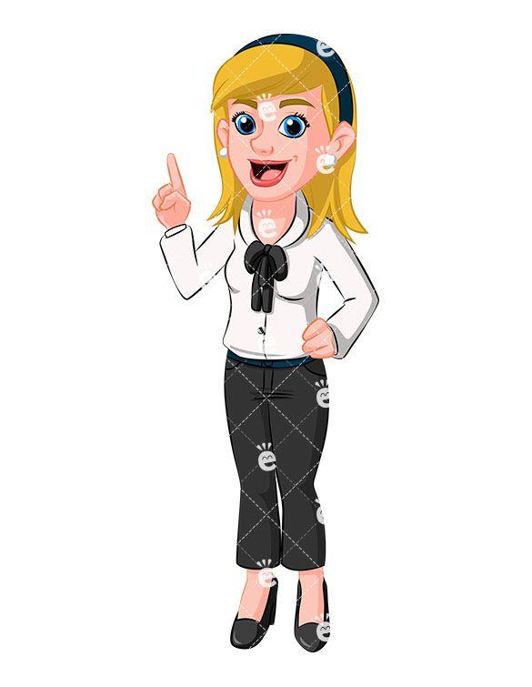 Pin on Caucasian Businesswoman Clipart.
