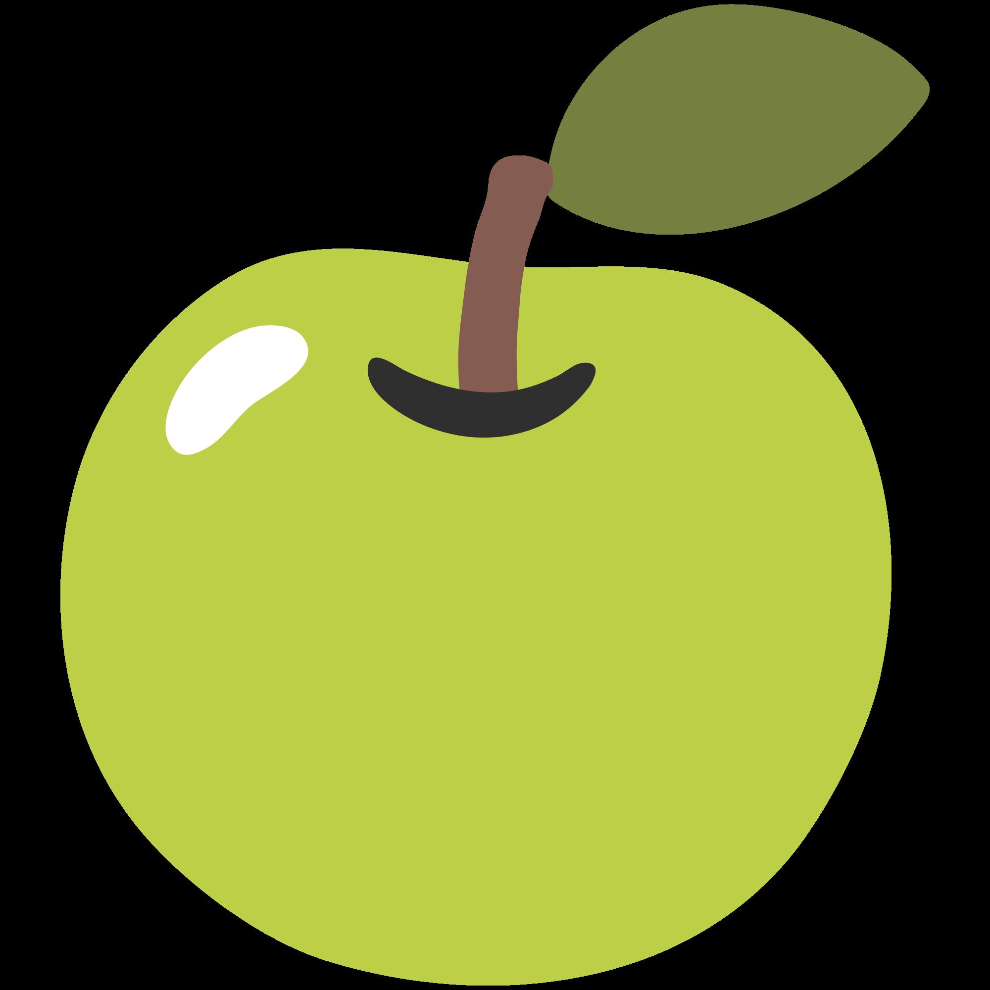 Emoji Apple transparent PNG.