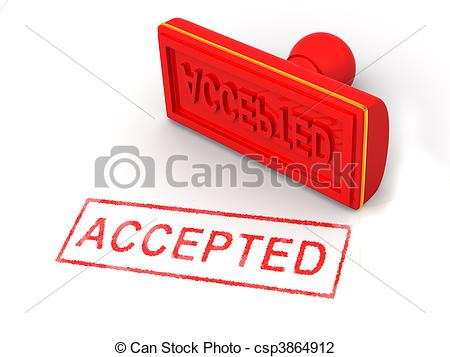 Clip Art of Stamp accepted. 3d csp3864912.