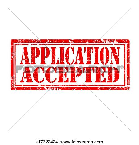Clipart of Application Accepted.