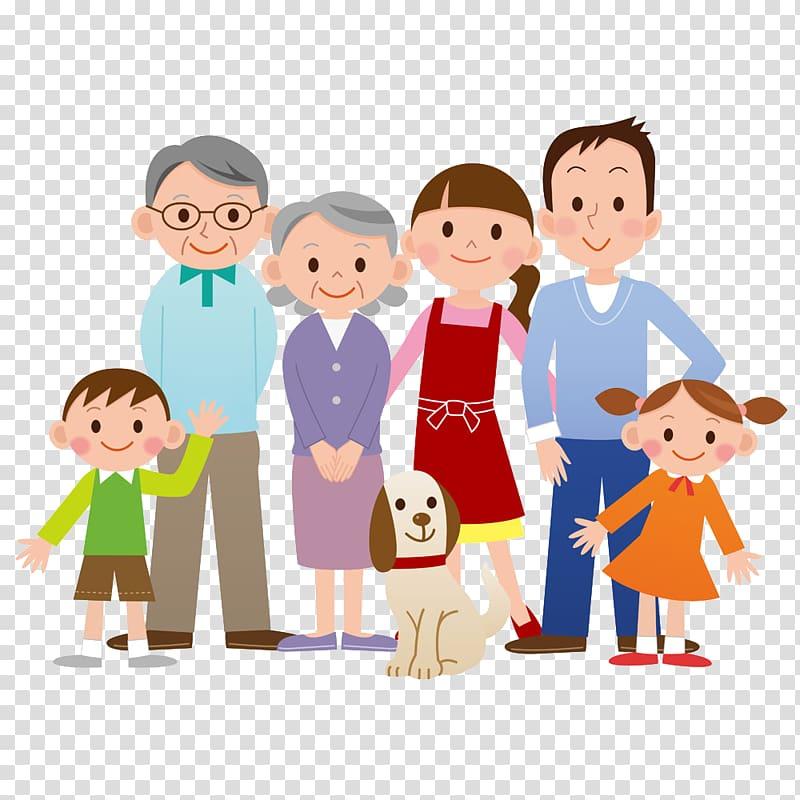 Family illustration, Family transparent background PNG.