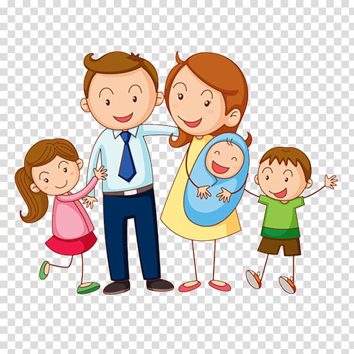 Learning Vietnamese family life Parent, Happy family.