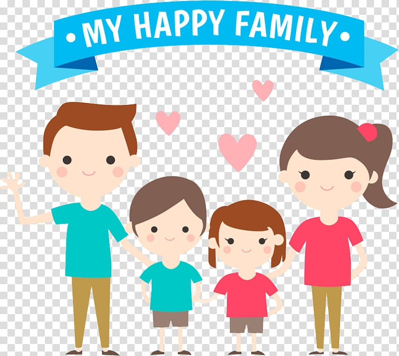 Family Parent Child, happy family transparent background PNG.