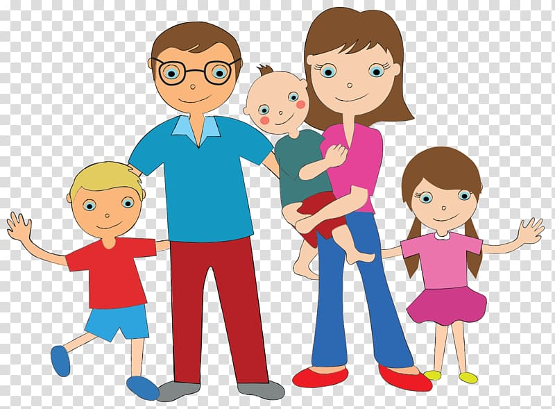 Family Cartoon , Family transparent background PNG clipart.