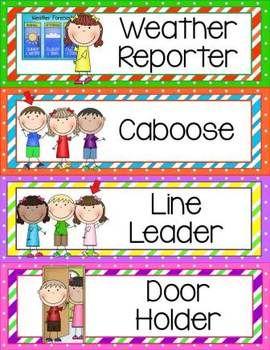 Classroom Helpers Clip Chart.
