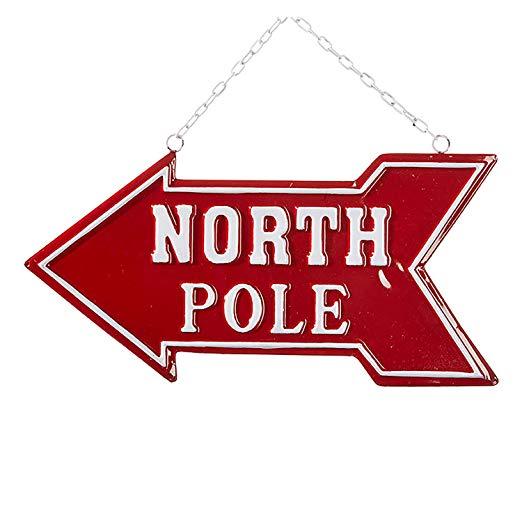 Amazon.com: One Holiday Way Vintage Metal North Pole Arrow.