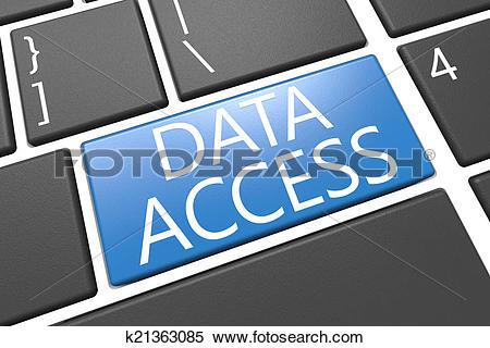Stock Illustration of Data Access k21363085.