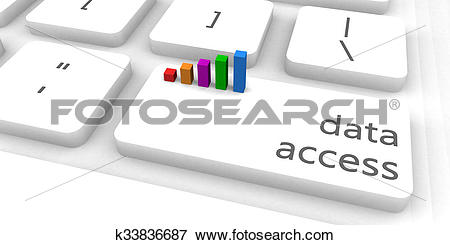 Stock Illustration of Data Access k33836687.