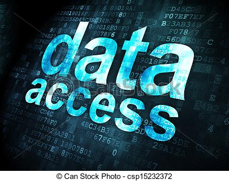 Stock Illustrations of Information concept: Data Access on digital.