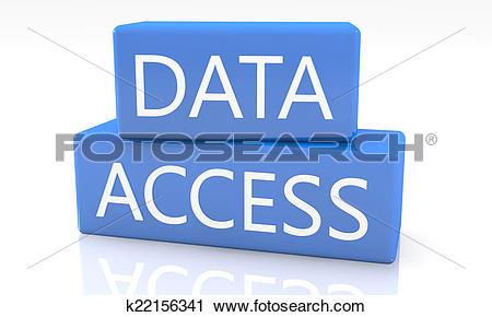 Clipart of Data Access k22156341.
