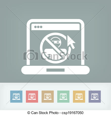 Clipart Vector of Illustration of web access data protection.