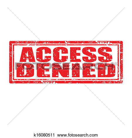 Clipart of Access Denied.