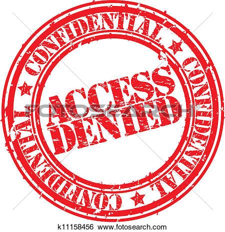 Clip Art of Grunge access denied rubber stamp, k11158456.