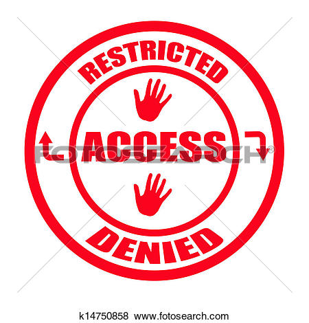 Clip Art of Access denied k14750858.