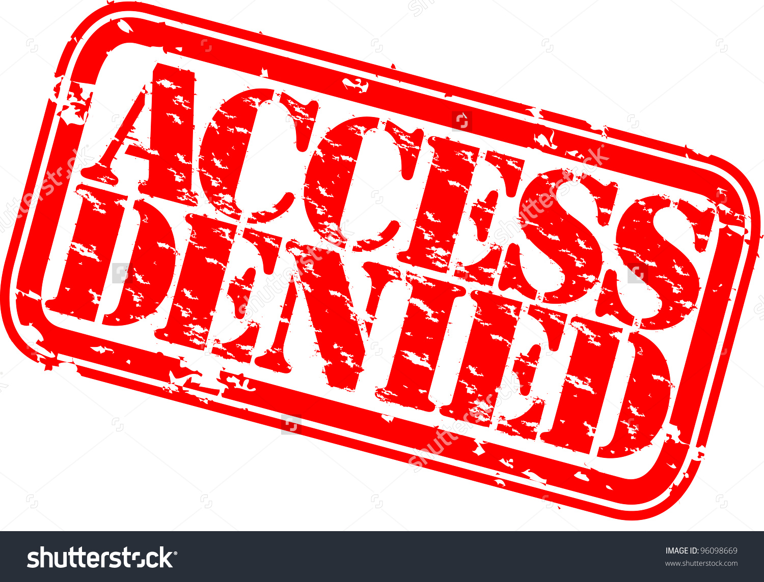 Grunge Access Denied Rubber Stamp Vector Stock Vector 96098669.