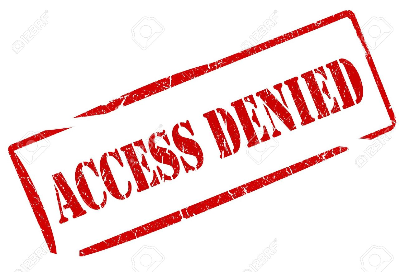 Access Denied Stamp Stock Photo, Picture And Royalty Free Image.