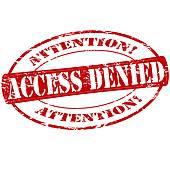 Access Denied Clip Art.