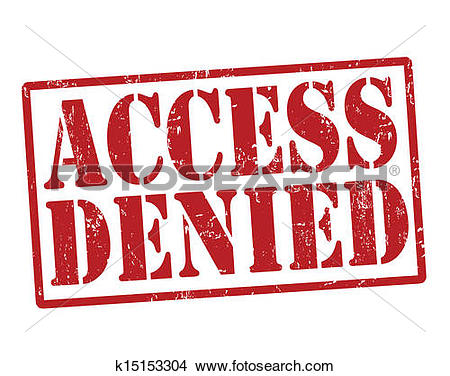 Clipart of Access denied stamp k15153304.