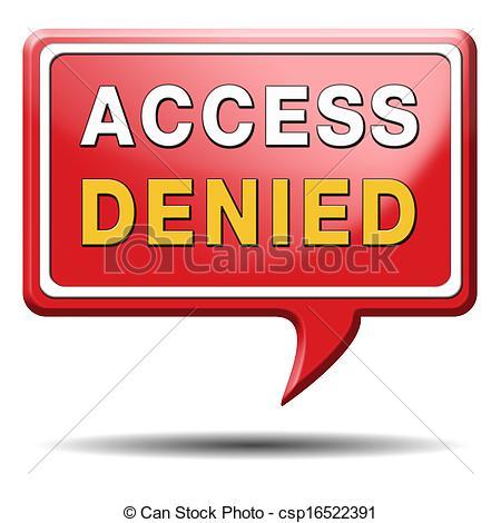 No access clipart.