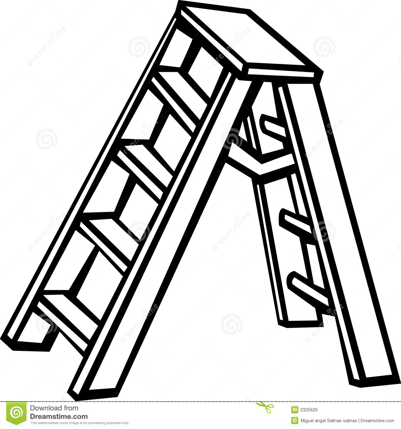 Step ladder clipart.