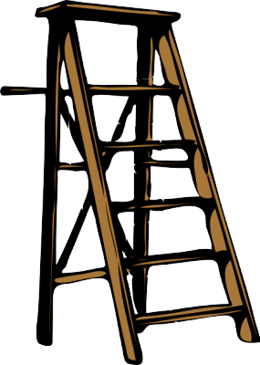 Step ladder clipart.