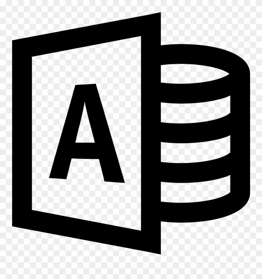 Microsoft Access Icon.