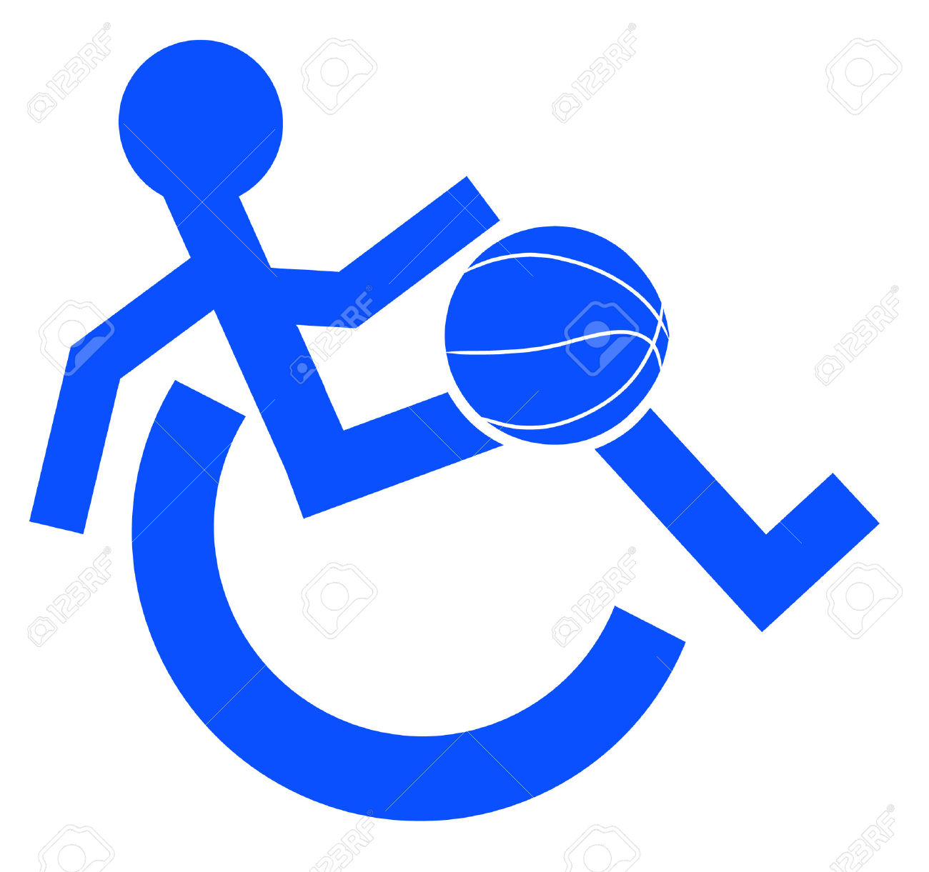 Logo Or Symbol For Wheelchair Accessible Sports Or Activities.