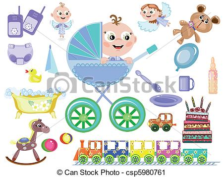 Vector Clip Art of Baby boy,accessory csp5980761.