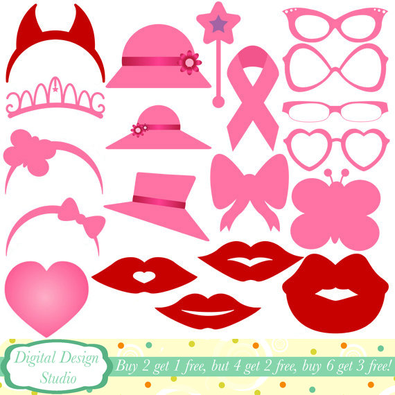 Ladies accessories clip art set, 20 designs. INSTANT DOWNLOAD for.