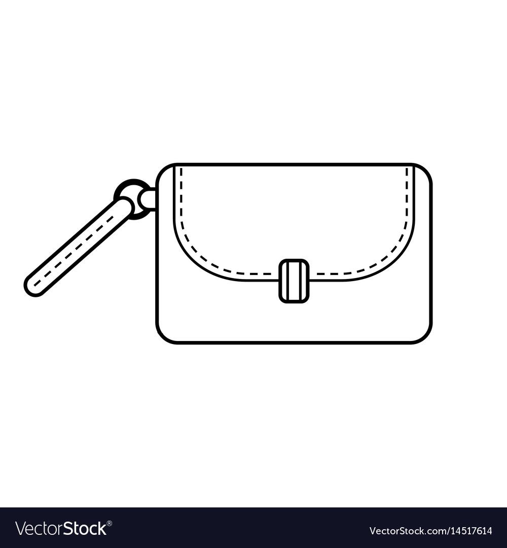 Bag fashion accessory black and white flat.
