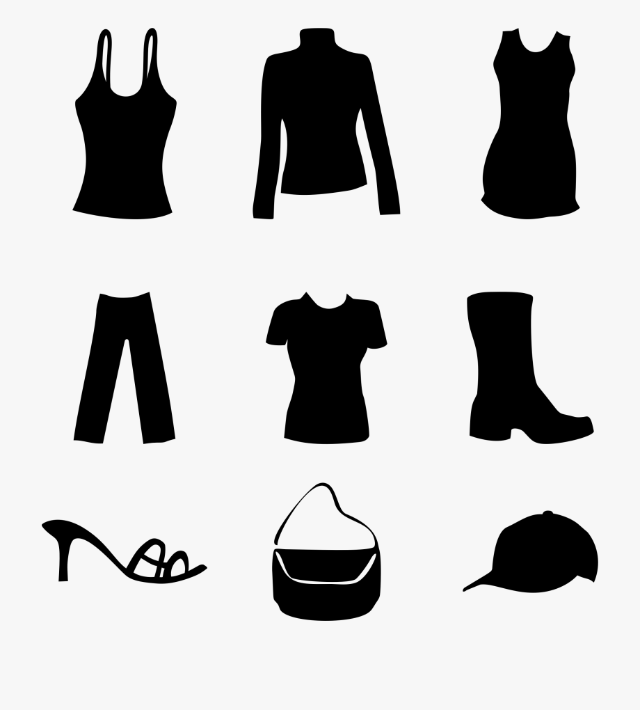 Clipart Women S And Accessories Big Image.