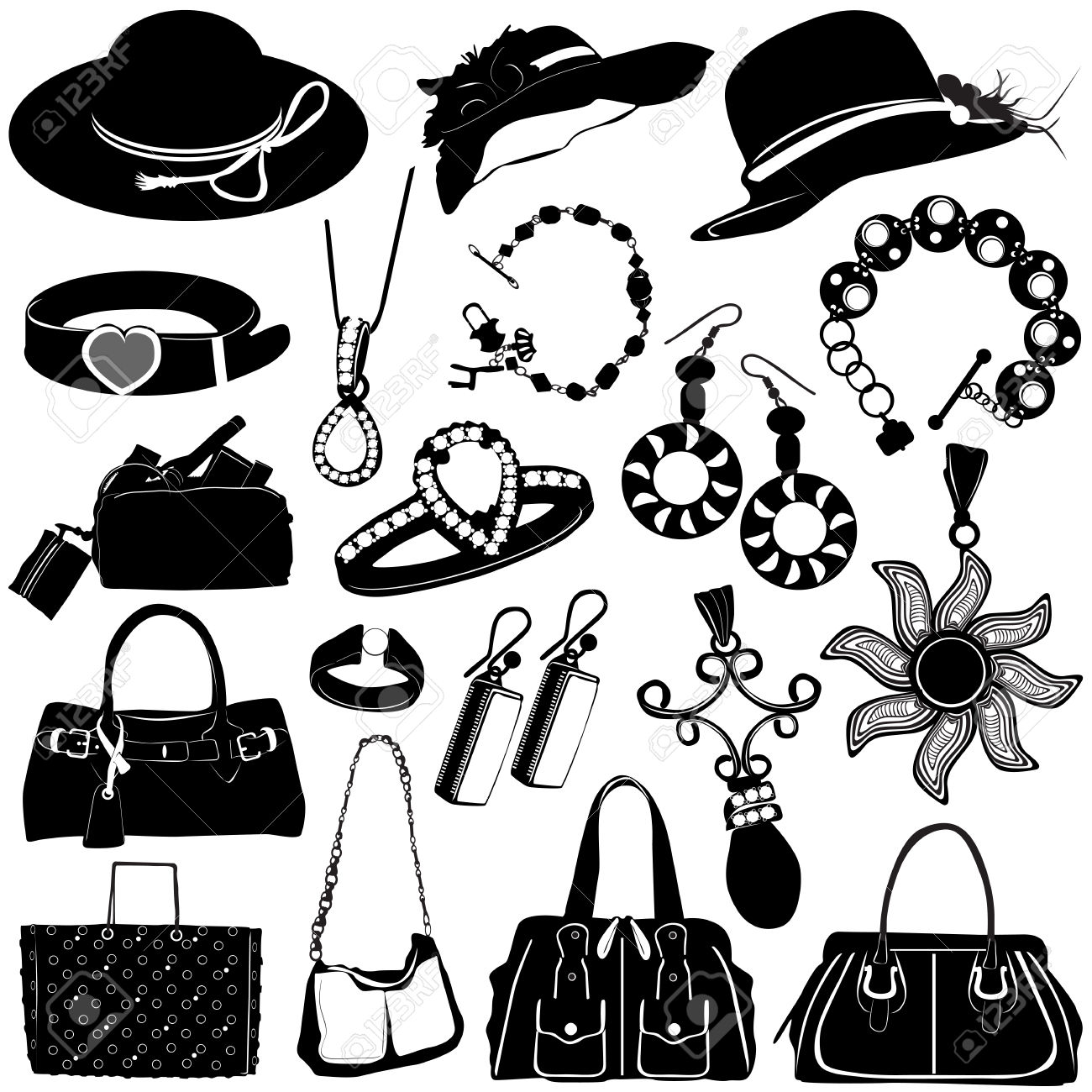 Free fashion accessories clipart.