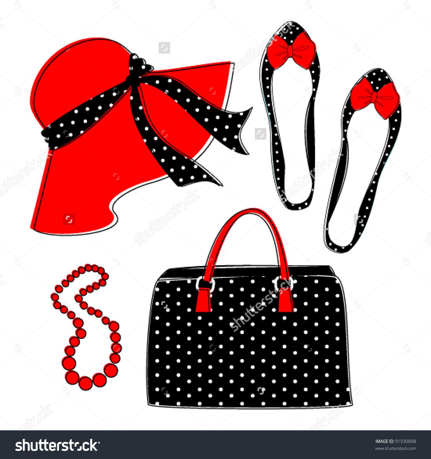 Fashion Accessories Clipart.