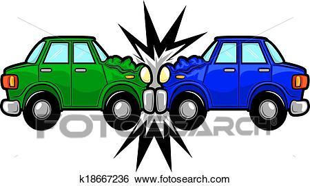 Car Accident Cartoon Clip Art.