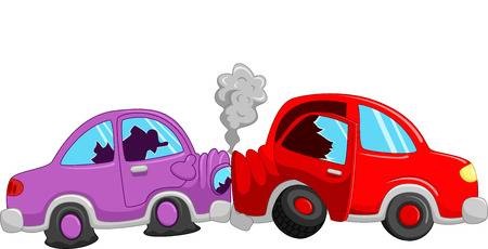 Cartoon car accident clipart » Clipart Station.