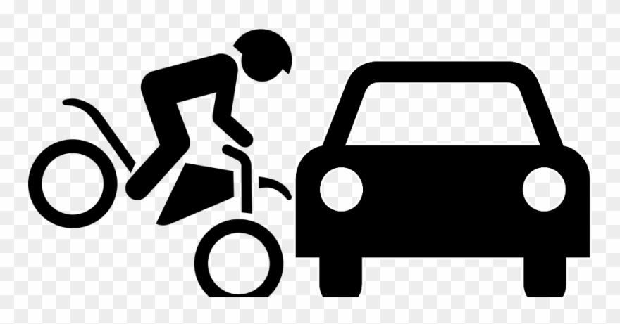 Car Bike Accident Cartoon Clipart (#1690401).