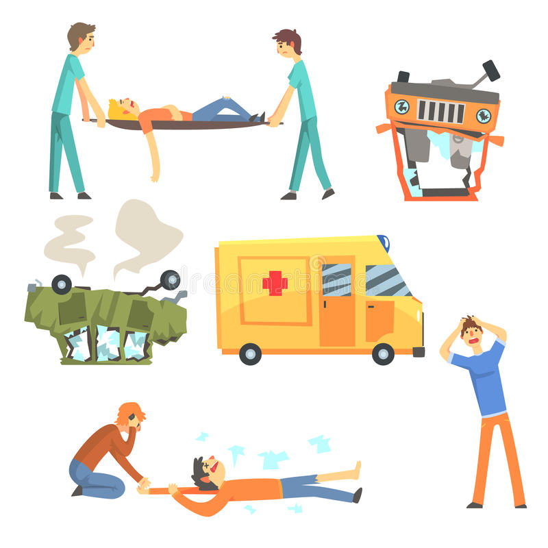 Accident Cartoon Stock Illustrations.