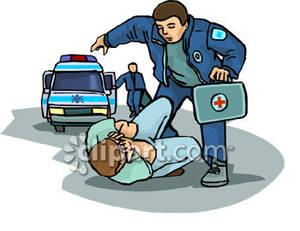 Accident victim clipart.