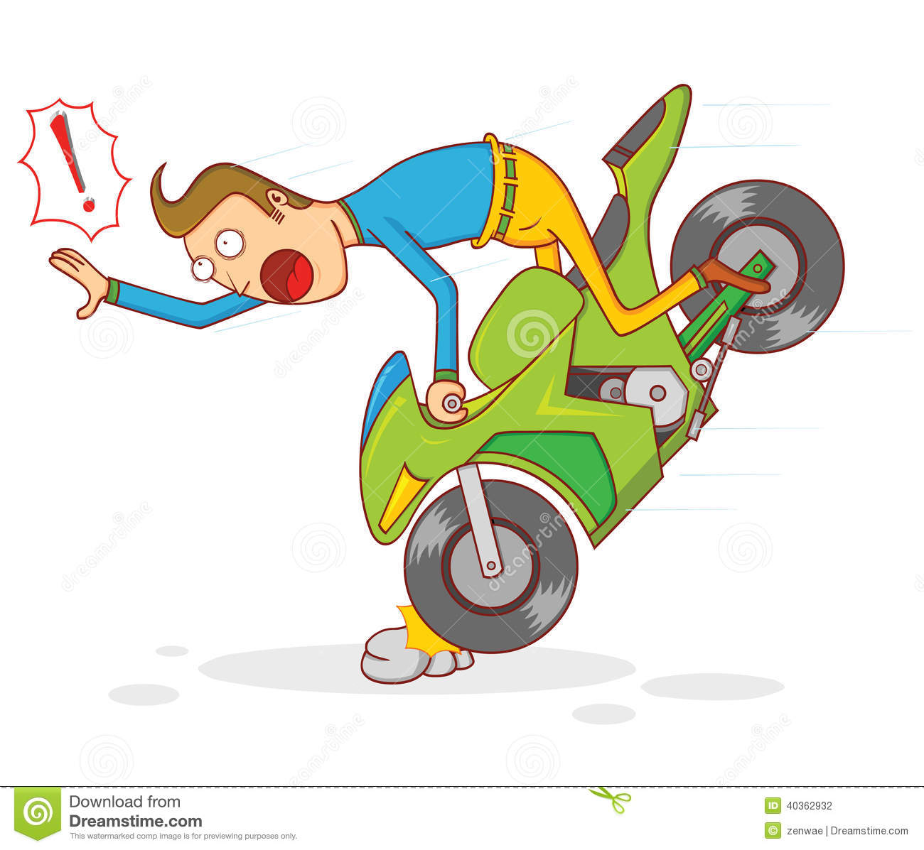 Bike accident clipart.