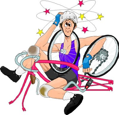 Bike accident clipart.