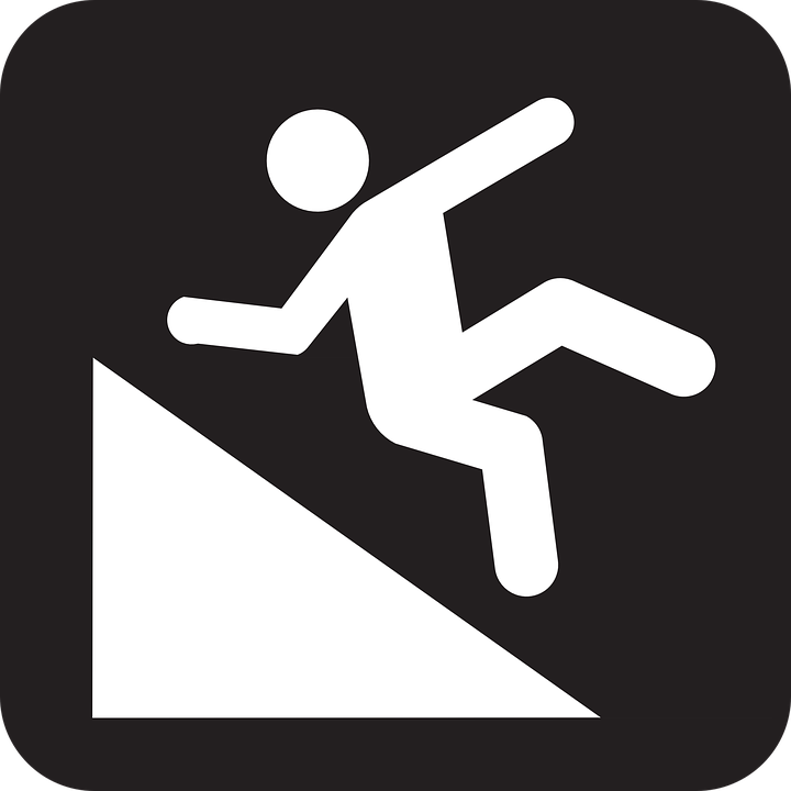 Free vector graphic: Hillslope, Falling, Man, Declivity.