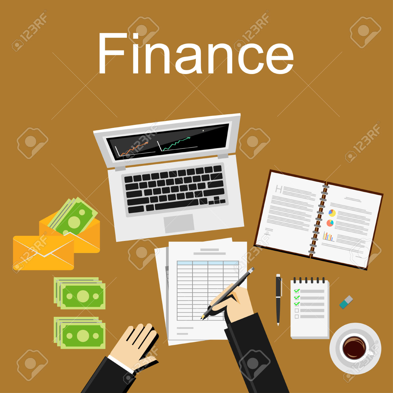 Finance Illustration. Flat Design Illustration Concepts For.
