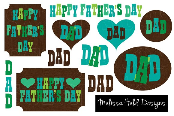 Father's Day Clipart ~ Icons on Creative Market.