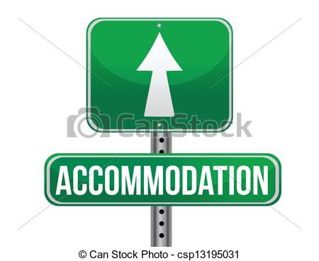 Vectors of accommodation sign illustration design over a white.
