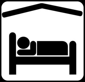 Hotel Motel Sleeping Accomodation Clip Art.