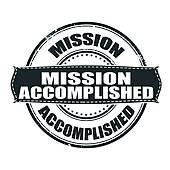 Mission Accomplished Clip Art.